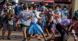 মিয়ানমারে সেনা সমর্থকদের সাথে বিরোধীদের তুমুল সংঘর্ষ